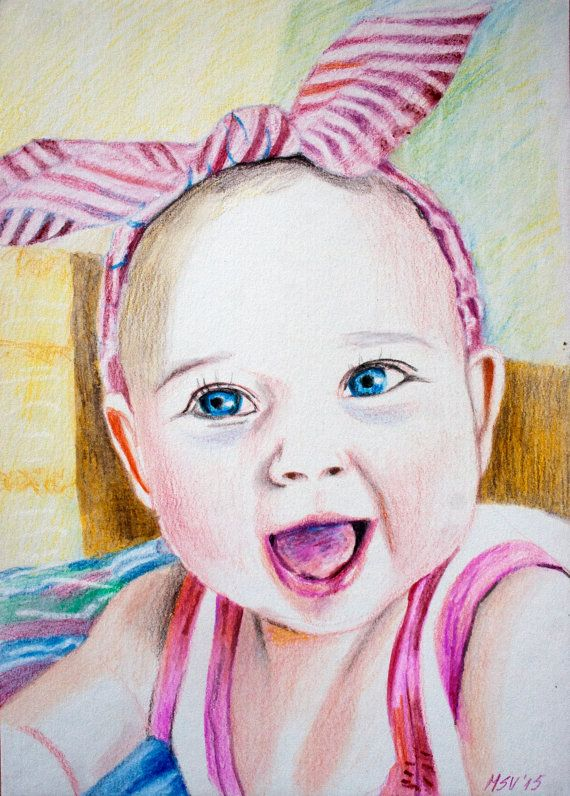 Request a #custom order and have something made just for you ! #PORTRAIT WATERCOLOR after Photo by BabyPortraitArt on @Etsy