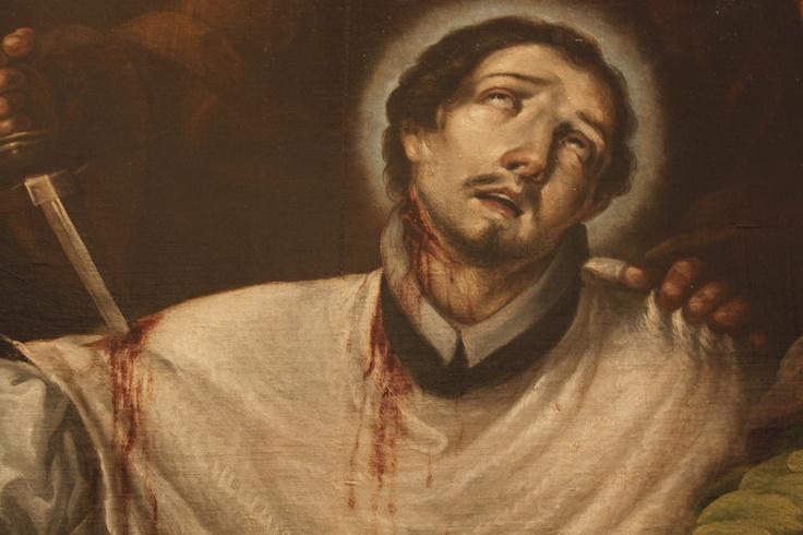 Baltasar de Echave y Rioja, El martirio de San Pedro Arbues, detalle