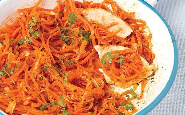 Tinga de zanahoria y col
