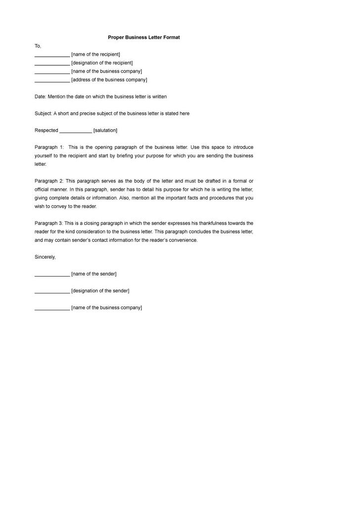 Formal Business Letter Format Templates Examples Template Lab Amp
