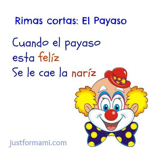 rimas cortas para niños el payaso #rimascortas #rimasparaniños