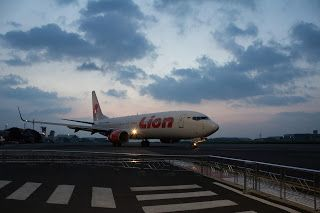 Last departure that night, Husein Sastranegara International Airport, Bandung Jawa Barat - Indonesia
