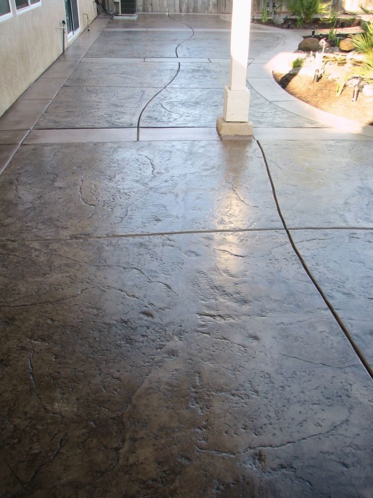 Attractive Stamped Patio Slab, San Diego Buff Davis Color Concrete, Nutmeg Antique  Release Color U0026