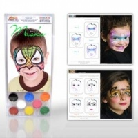 Snazaroo Halloween Mask Face Painting Kits(8 Colors)from Facepaint.com. The Halloween Mask Face Painting Kit includes the Face Painting Book of Masks by Murad and eight Snazaroo 2 ml face paints (Black,White,Red,Yellow,Green,Sky Blue,Orange and Bright Pink).The halloween mask face painting book,her bestselling book in the series,has 25 original extraordinary yet simple unisex Batman,Unicorn,Princess and Spiderman face paint designs by Marcela Murad,one of the pioneers in the face painting…