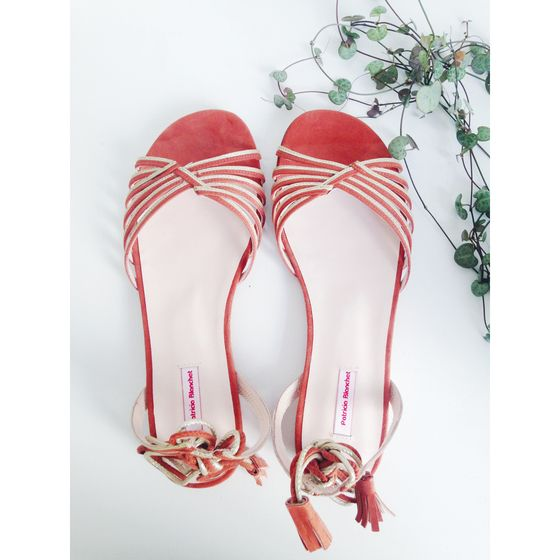 love shoes addict mariage patricia blanchet Sandales ANA nu pied rose saumon a lacets