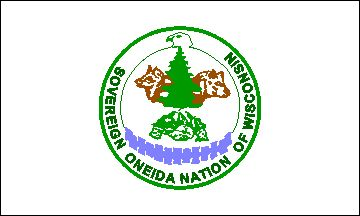 """The Wisconsin Oneida share the symbols utilized by the eastern branch of the Tribe in New York. Both employ the great tree, the wolf, the eagle, the bear, and the wampum belt as symbols in their tribal seals. The seal of the Wisconsin Oneida features the great tree standing atop the """"turtle island"""" representing the earth."""