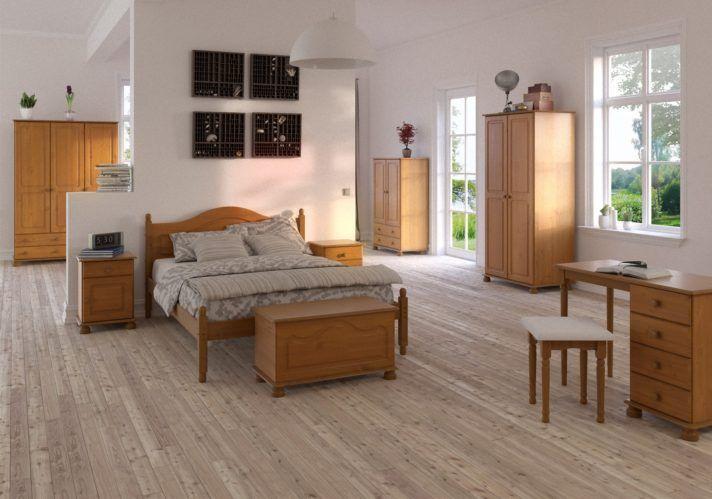 Schlafzimmer Holz Kleiderschrank Richard Pine Massivholz