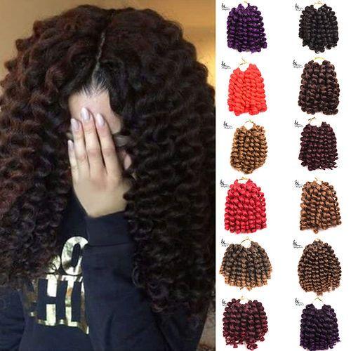 Wand Curl Crochet Hair Extensions Ombre Havana Mambo Twist Braiding Hair