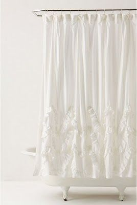 DIY Waves of Ruffles shower curtain tutorial