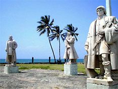 Sao Tome and Principe - Statues at the National Museum