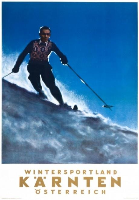 vintage ski poster - Karnten