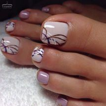 Cool summer pedicure nail art ideas 38