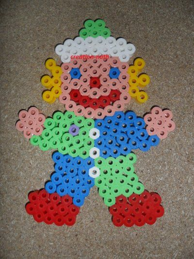 Clown hama beads by creation-nath