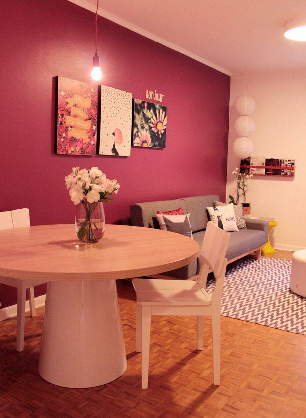 1000 ideias sobre papel de parede cinza no pinterest for Pintado de salas pequenas