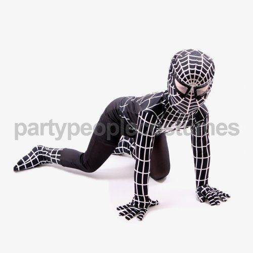 Amazing Super Hero Kids Spider Stretchy Suit 'Comic Red' or 'Venom Black' Fancy Dress Costume by Suit Stretch, http://www.amazon.co.uk/dp/B00HUX6WG6/ref=cm_sw_r_pi_dp_kgRltb1K1TS1J