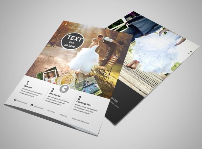 wedding photography package flyer template  with images