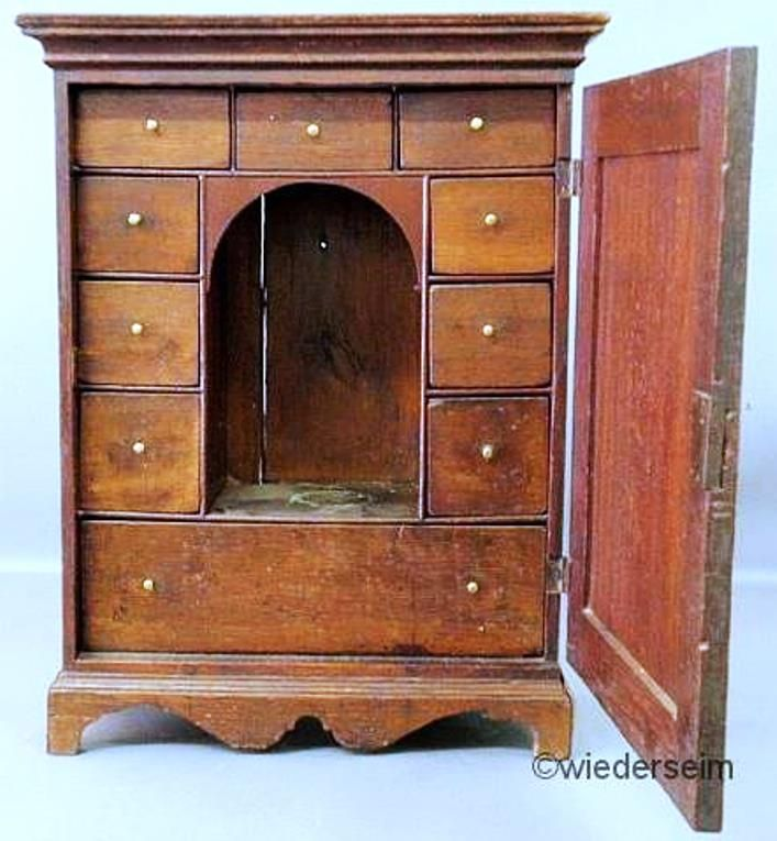 Spice Cabinet; George III, Oak, Stepped Cornice, Field Paneled Door, Fitted - 59 Best Antique SPICE CHEST Images On Pinterest Furniture