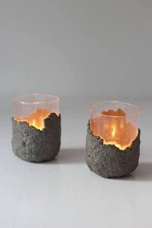 gjuta ljuslyktor i betong