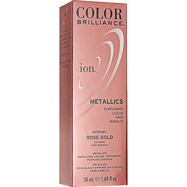 Metallics, ion Color Brilliance latest masterpiece, is a temporary liquid hair…                                                                                                                                                                                 More
