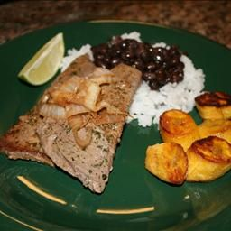 Cuban Palomilla Steak with Black Beans, Rice and Sweet Plantains ...