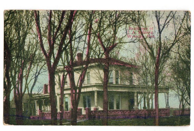 Vintage 1910's Wymore Nebraska Postcard J A Reuling House