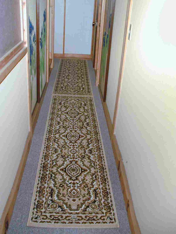 中廊下 寒対策 絨毯敷 更に廊下用幅60Cmの長い絨毯を敷いて完成
