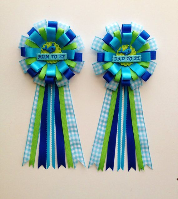 Ahoy Baby Boy Whale Theme Baby Shower Corsage Mom