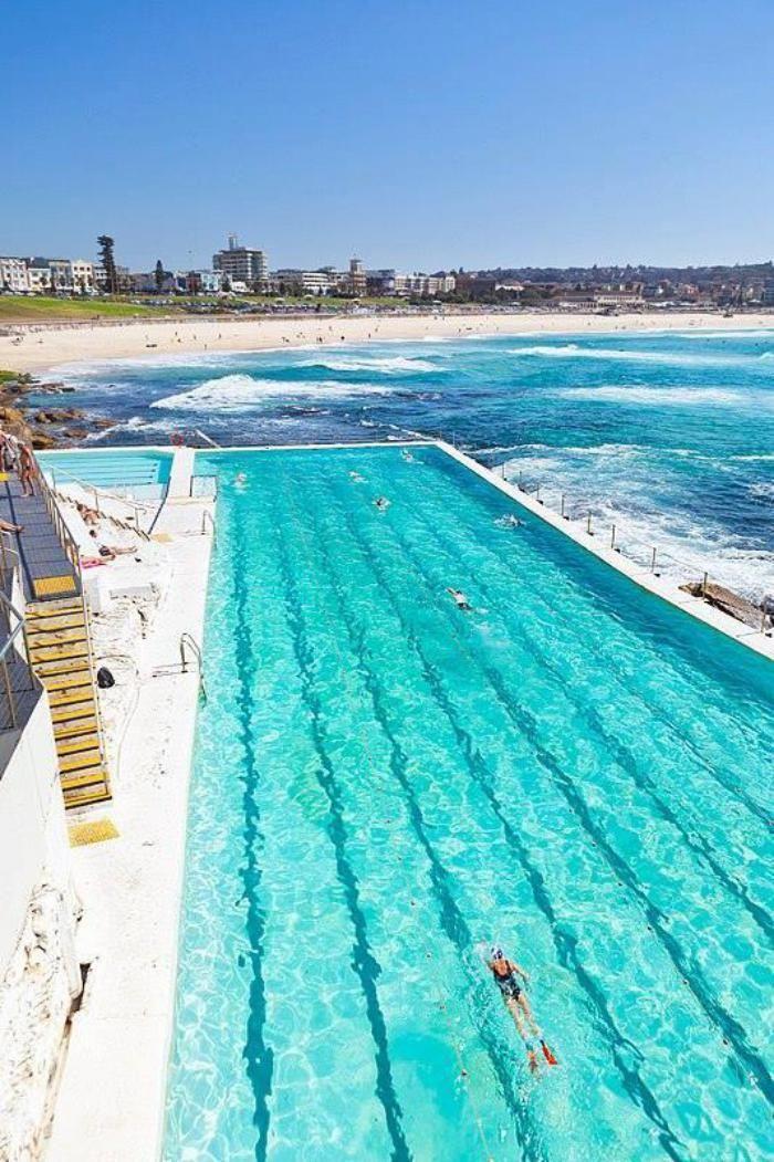 piscine olympique, la piscine Bondi en Australie