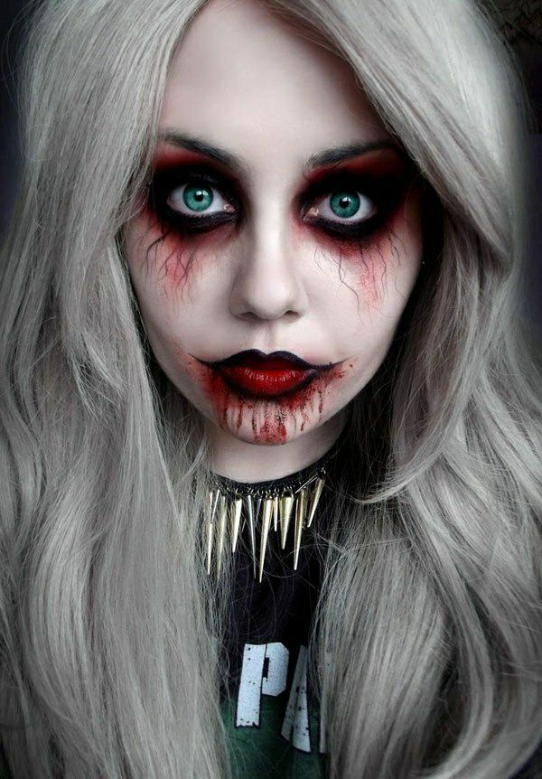 maquillage vampire avec latex