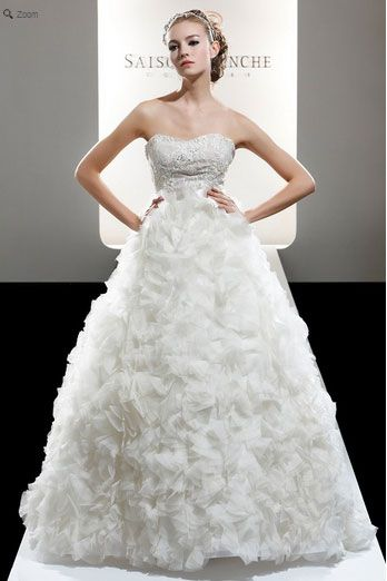 Saison Blanche Wedding Gown - Couture Collection - Style #4204