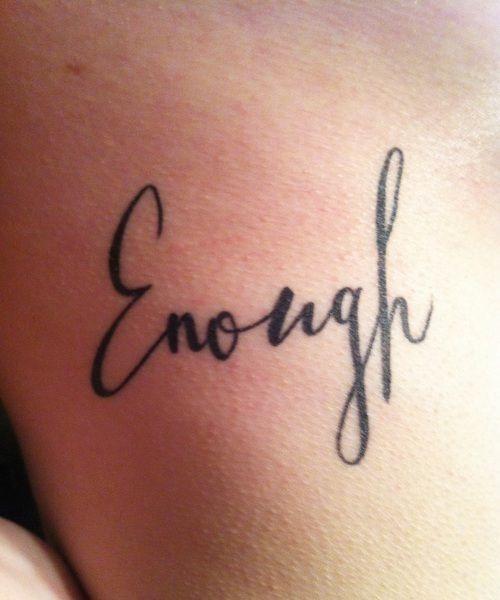 Enough Tattoo