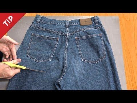 Une idée simple pour transformer un vieux jean en tablier fonctionnel | SF Globe