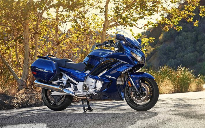 Download wallpapers Yamaha FJR1300ES, 4k, 2017 bikes, touring motorcycles, Yamaha