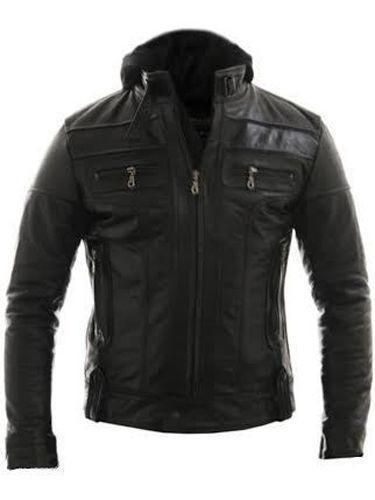 Racing Style Motorcycle Real Leather Jacket With Detach Hood. Available in Real Leather. Hood can be detached. SHOP TODAY