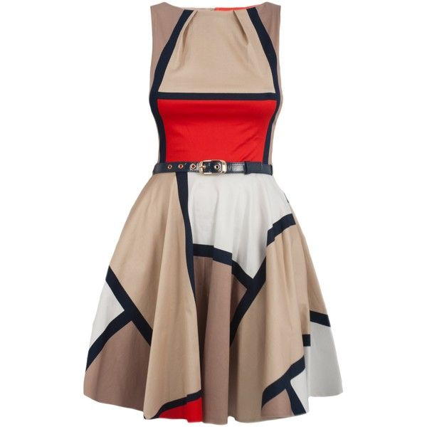 Closet Square Printed Dress, Multi found on Polyvore