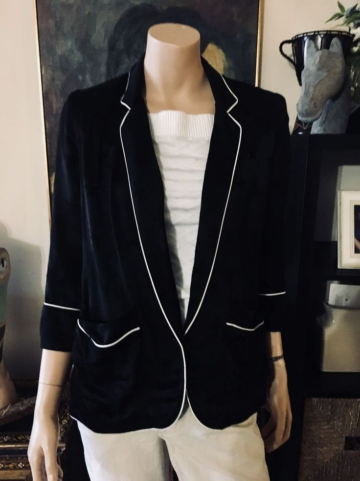 Woman's AUTHENTIC SMYTHE Les Vestes Star Blazer Jacket Size 4, Antique Alchemy #Smythe #BoyfriendBlazer