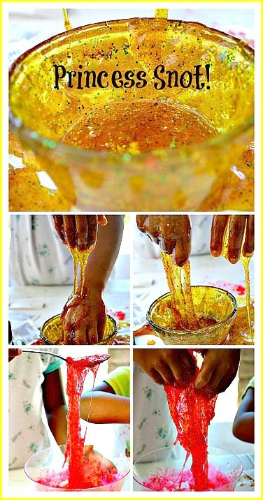 Fun sensory play idea. Make fake snot!! Make it a little thicker you got yourself a slime-like substance. All the ingredients are edible- that is if you go glitter-free! #sensoryactivities
