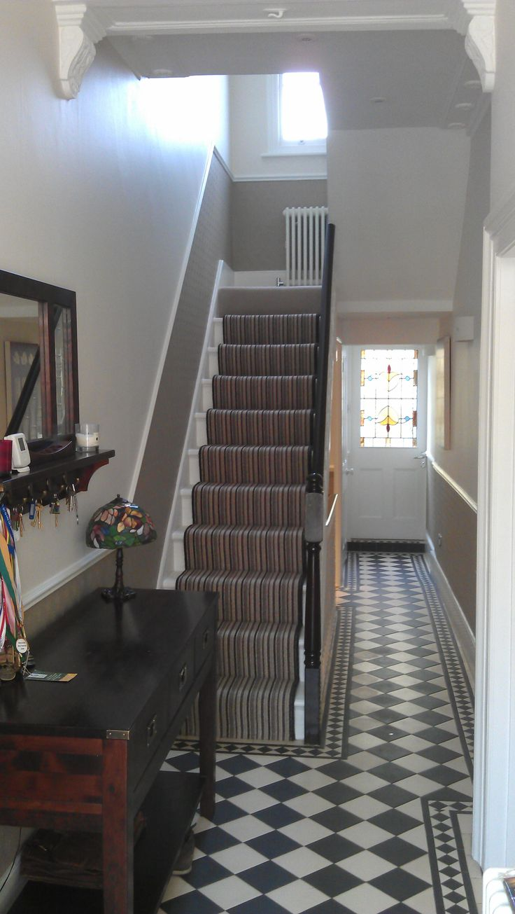Hallway wallpaper dado rail   best Upper drive images on Pinterest  Paint colors Stairs and
