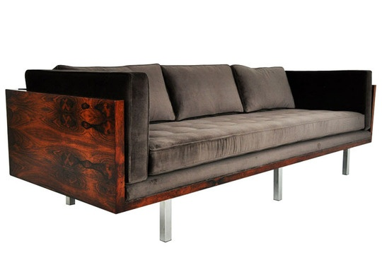 Wood Frame Sofa : Rosewood Case Sofa by Milo Baughman  Design - Products for Home  Pi ...