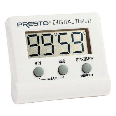 Presto Electronic Digital Timer, White