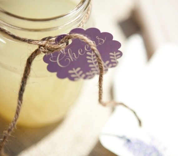 DIY Lavender Drink Tags by WeddingGirl on Etsy, $20.00  DIY for engagement blushing bridal party????