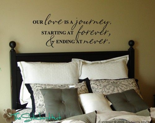 Our Love is a Journey - Wall Decals - Vinyl Lettering - Home Decor Decals - Quote Saying Vinyl Wall Art Lettering Decals Stickers 491 by thestickerhut on Etsy