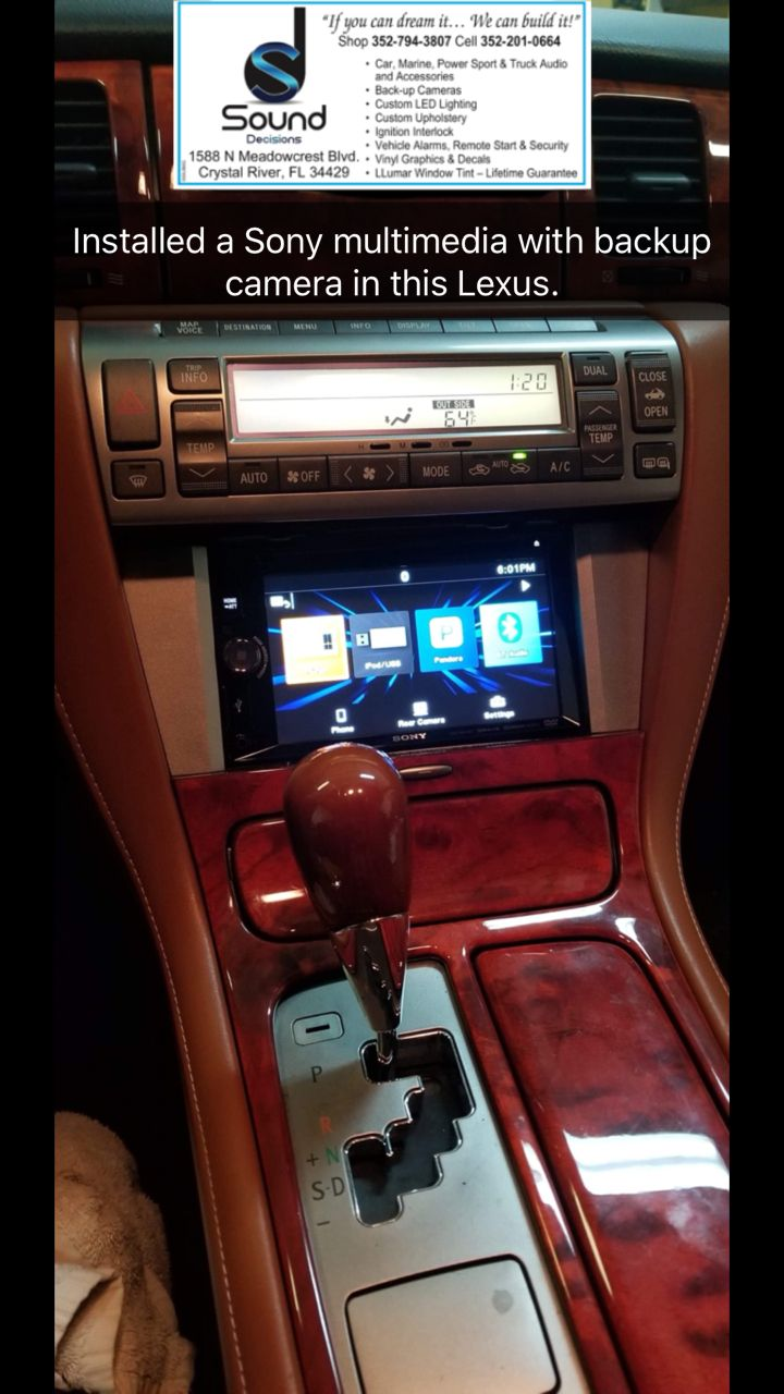 Pin By Sound Decisions On Installed A Sony Multimedia With Backup Auto Alarms Camera In This Lexus