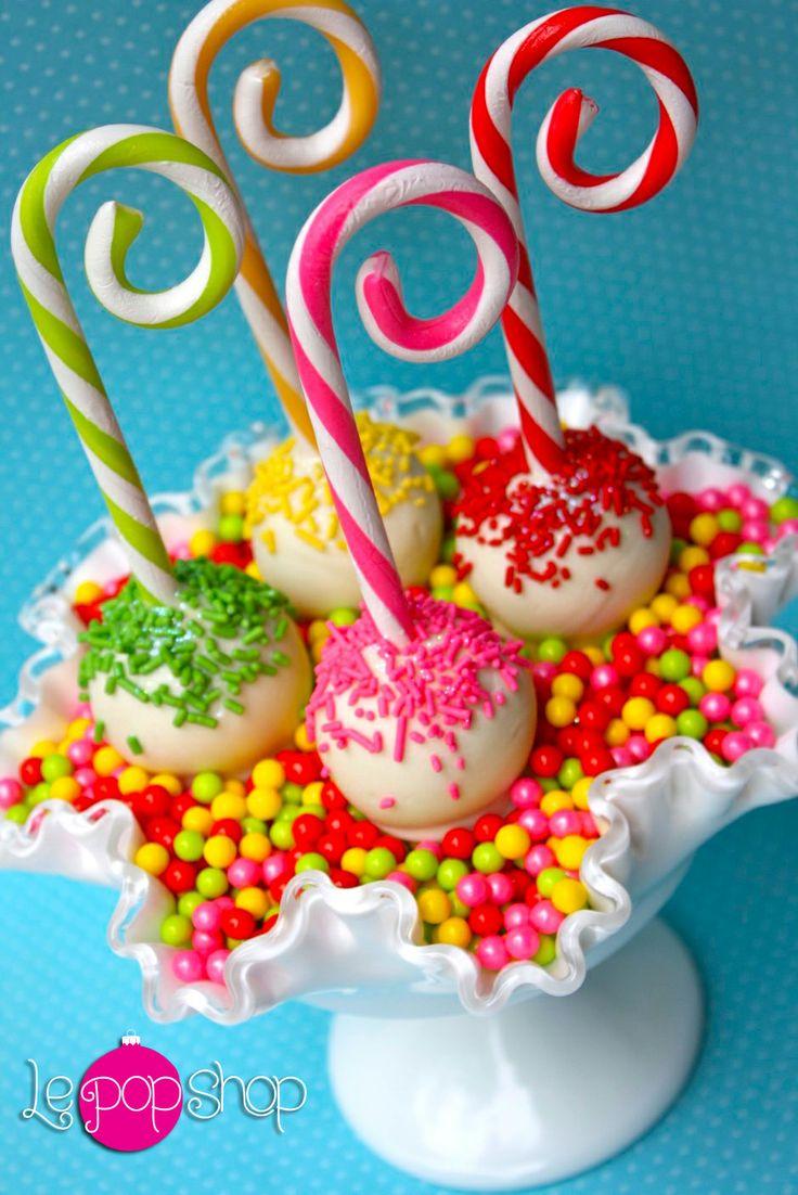 """""""Candy Canes with PoP"""" original creation by Le Pop Shop https://www.facebook.com/LePopShop"""