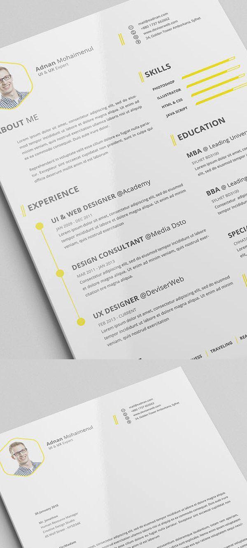 Free Resume Templates 2015 Elegant 15 Free Elegant Modern Cv Resume Templates Psd Resume Design Free Cv Resume Template Resume Template Examples