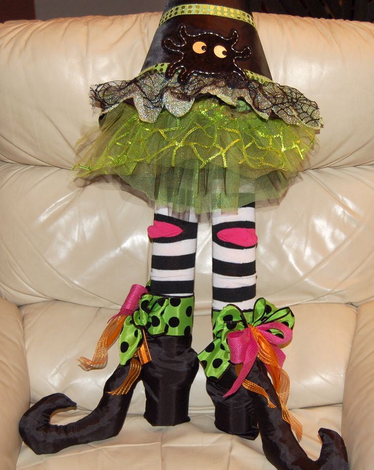 DIY witch hat legs. Pool noodles and knee high socks for ...