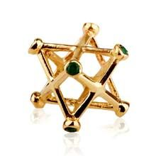 Inlaid Merkaba Pendant Gold Medium - A Powerful Symbol of Healing and Protection Jewel's Intention: Live a healthy, connected, loving, and balanced life. Size: 1.5cm/1.5cm - 0.6Inch/0.6Inch: Choice of Golds 14k Price: $457 Choice of stone additional cost at point of order.  Simply click on the image to order.