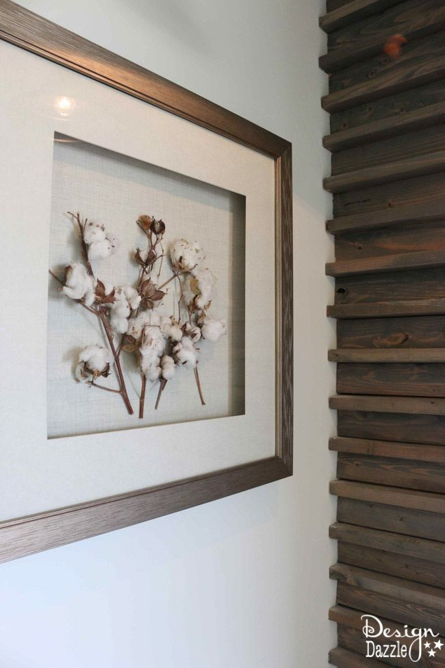 I love this simple framed cotton- part of a modern farmhouse home tour | Design Dazzle