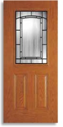 Exterior door lites - upgrade your dated front door!  Style shown - Adelaide - available at Abstract Glass