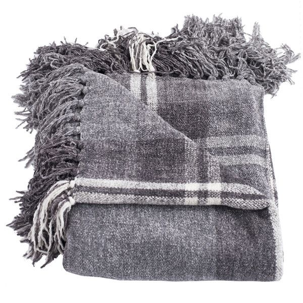 Lyman Throw Blanket Color: Gray ($40) ❤ liked on Polyvore featuring home, bed & bath, bedding, blankets, decor, accessories, blanket, fillers, plaid bedding and plaid throw